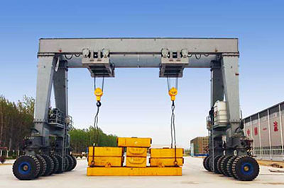 100t rubber tyred gantry crane for sale