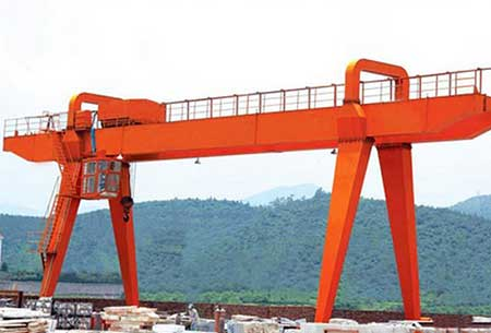 fixed a frame double girer gantry crane