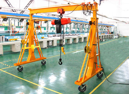 portable Gantry Crane design with light frame
