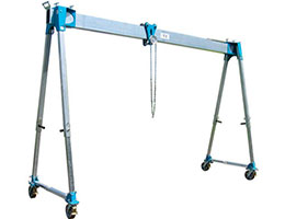 portable gantry crane with light structure